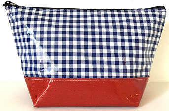 EG-Gingham Navy/Red