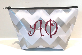 LGCOS-Chevron Silver Greek Alpha Phi Curls