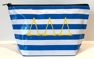 LGCOS-Stripe Blue Greek Delta Delta Delta Curls
