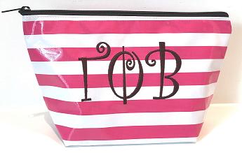 LGCOS-Stripe Pink Greek Gamma Phi Beta Curls