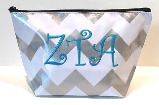 LGCOS-Stripe Chevron Greek Zeta Tau Alpha Curls