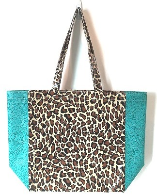 LCMKT-Leopard Brown/Turquoise