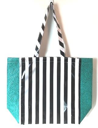 LCMKT-Stripe Black/Turquoise