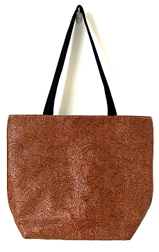 Faux Leather Medium Zip Tote
