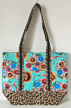 MCO-Sweet Flower Aqua/Leopard Brown