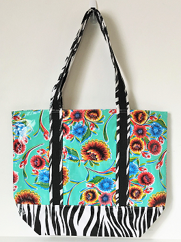 MCO-Sweet Flower Aqua/Zebra Black