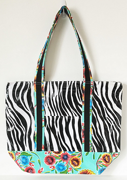 MCO-Zebra Black/Sweet Flower Aqua