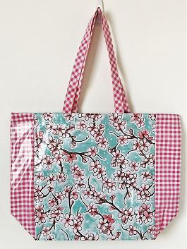 MKT-Cherry Blossom Aqua/Gingham Pink