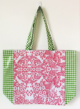 MKT-Lace Pink/Gingham Green