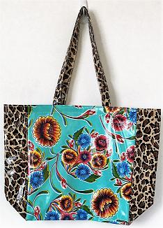 MKT-Sweet Flower Aqua/Leopard Brown